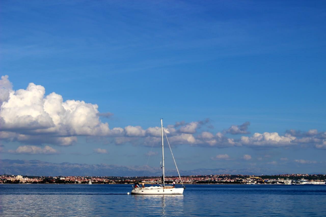 Zadar Chorwacja Zatoka i port
