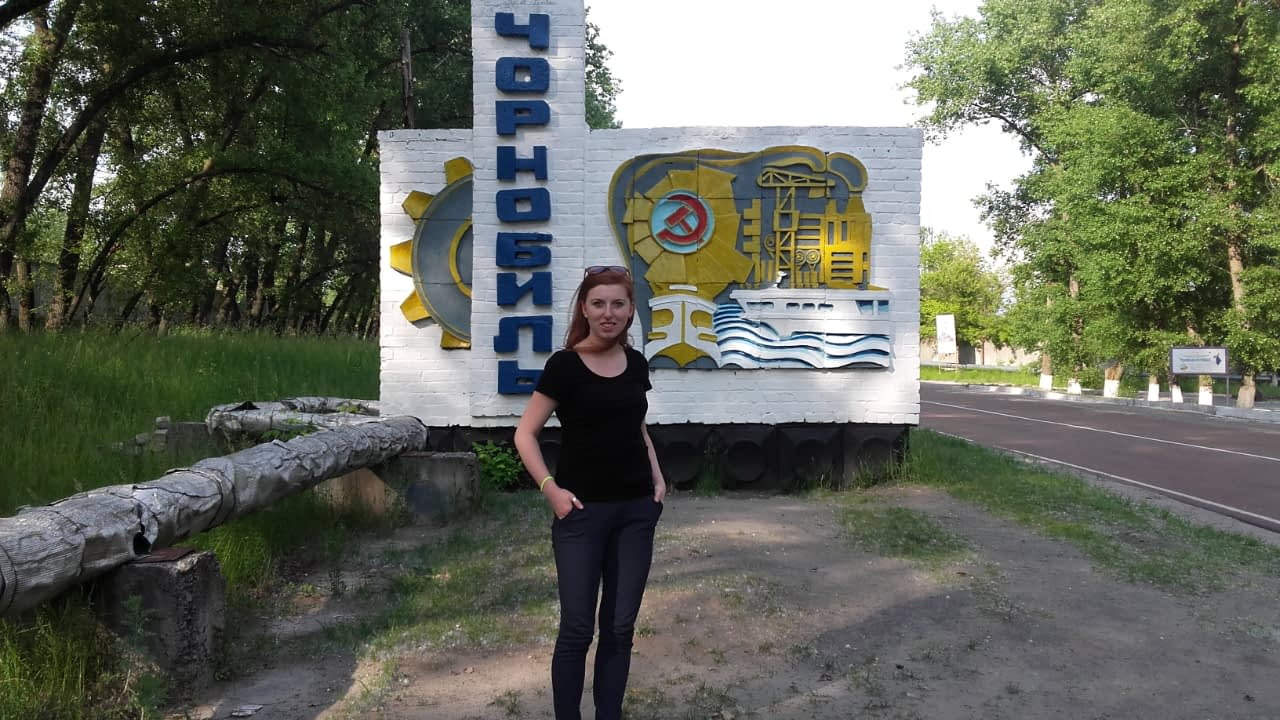 Czarnobyl wycieczka, zwiedzanie, znak na wjeździe do miasta.
