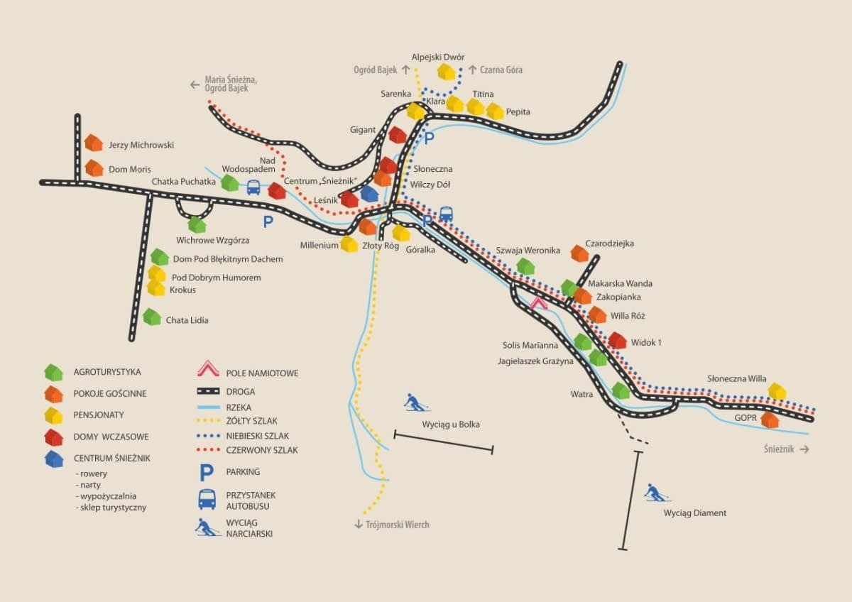 mapa Międzygórze