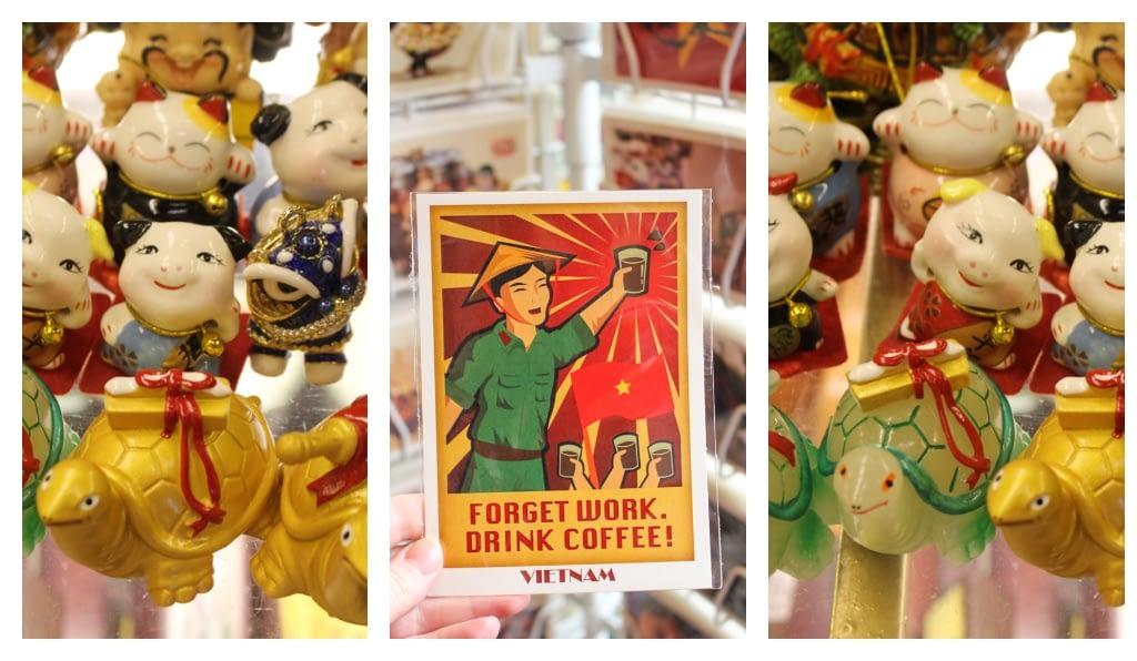 1) Żółwie symbolizują szczęście, 2) Kartki stylizowana na propagandowe komunikaty, 3) Świnie z okazji Roku Świni, marzec 2019 r.