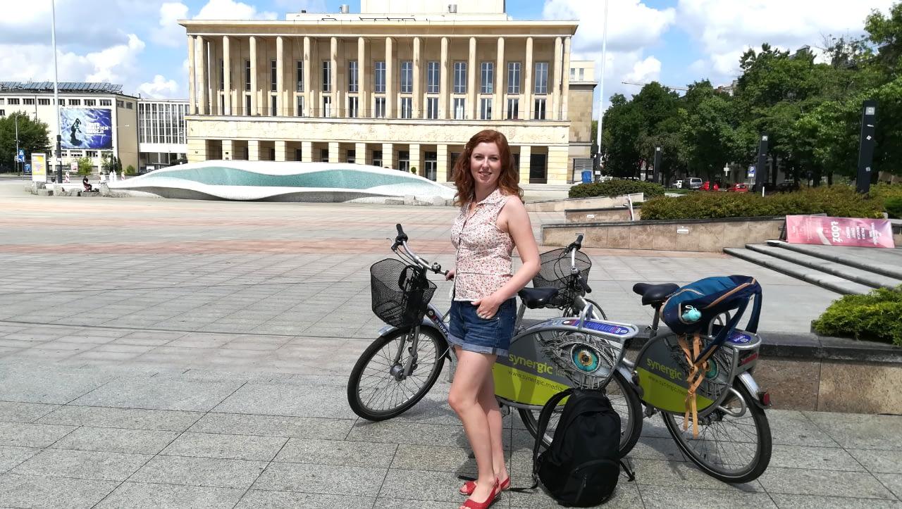 Łódź słynna fontanna, lato 2018 r.