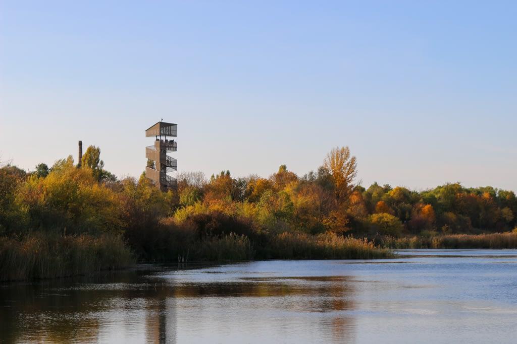 Parki w Poznaniu - Szachty - wieża widokowa.