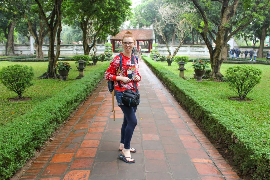Ogrody w Świątyni Literatury, Hanoi, marzec 2019 r.