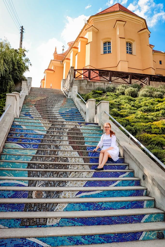 Mozaikowe schody - Prusy.