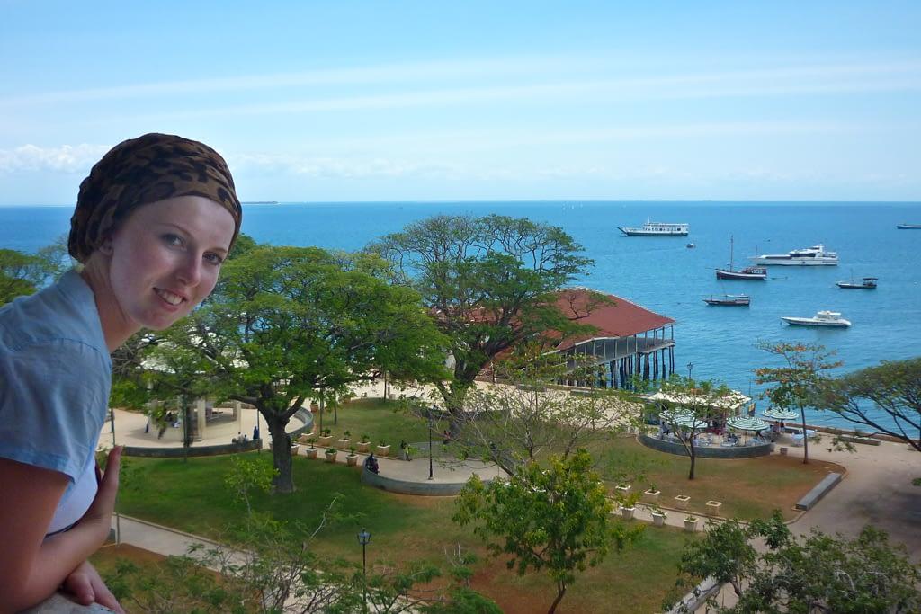 Widok z Domu Cudów na Ocean Indyjski.