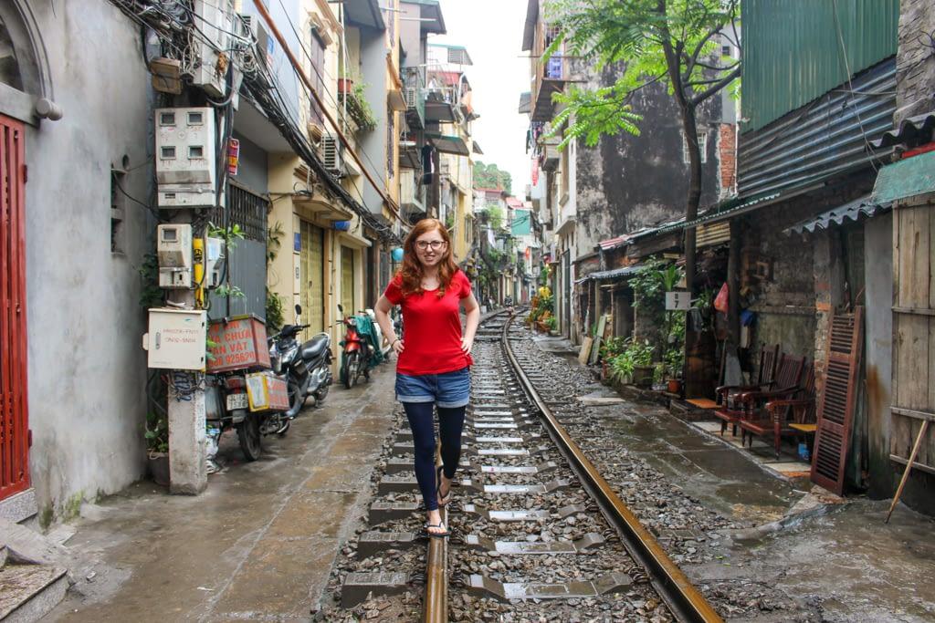 Train street, Stolica Wietnamu - Hanoi, marzec 2019 r.