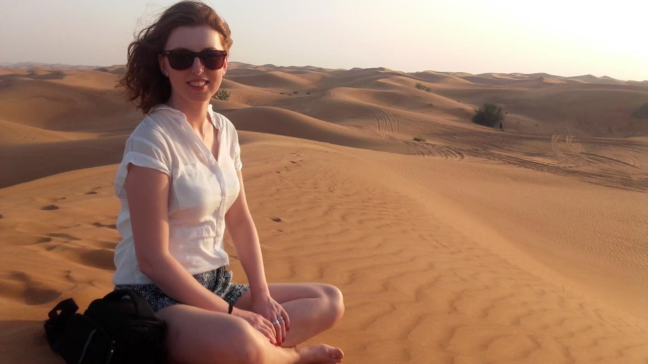 Rajd po pustyni przy granicy z Omanem, Dubaj.