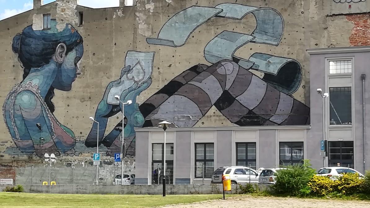 Łódzka sztuka uliczna - murale